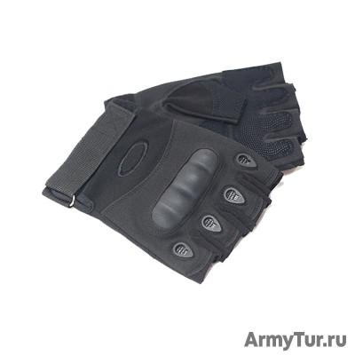 Тактические перчатки беспалые черные Oakley